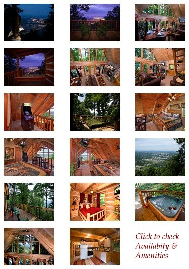 An Eagle's View rental cabin in the Smoky Mountains