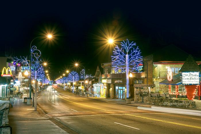 Christmas Lights In Gatlinburg