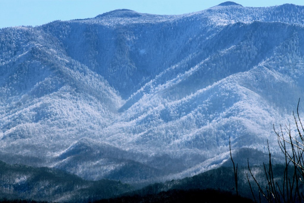 Smoky Mountains with fresh snow cover
