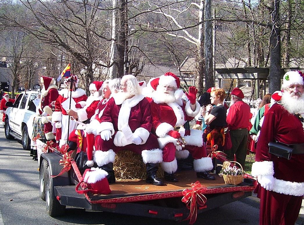 Santa Parade Clausfest 2014 Gatlinburg Tn