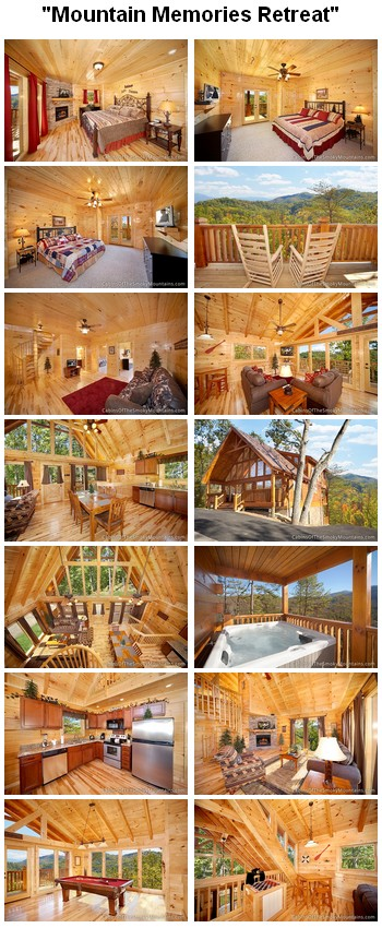 Mountain Memories Retreat cabin. CLICK HERE to book and for images, amenities and availability