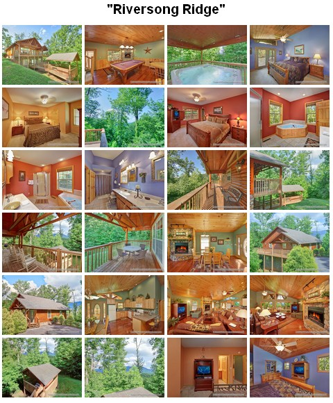 Riversong Ridge cabin. CLICK HERE to book and for images, amenities and availability