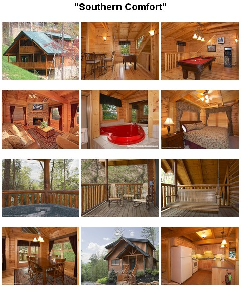 Southern Comfort cabin. CLICK HERE to book and for images, amenities and availability