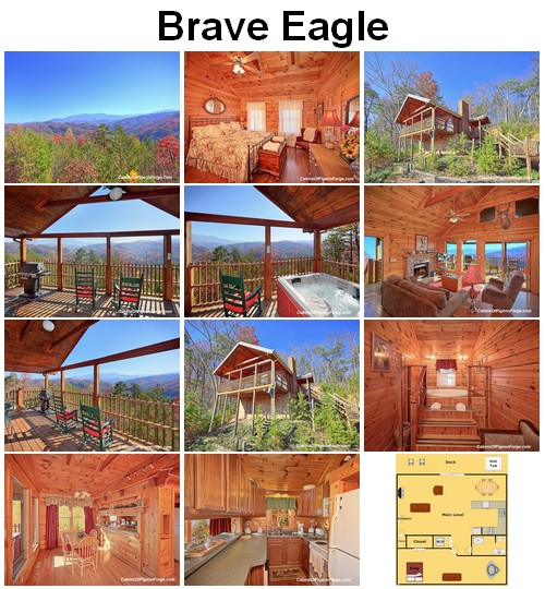 Brave Eagle cabin. CLICK HERE to book and for images, amenities and availability