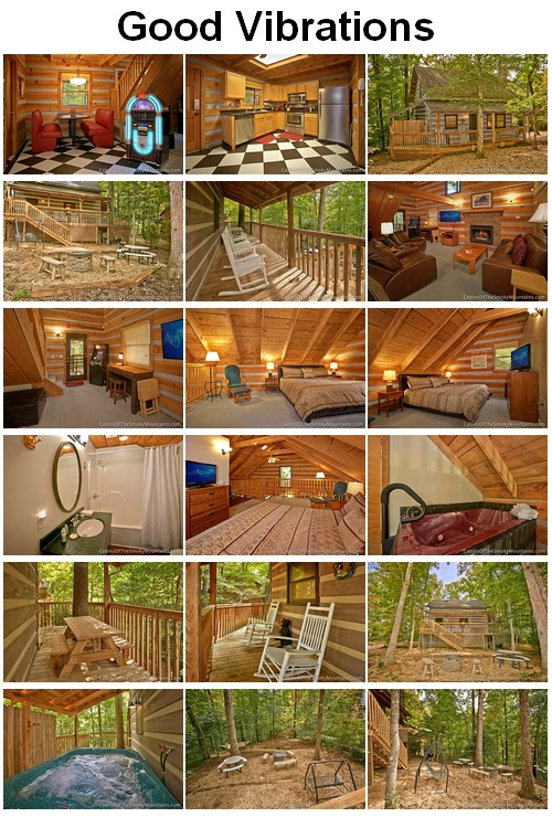 Good Vibrations cabin. CLICK HERE to book and for images, amenities and availability