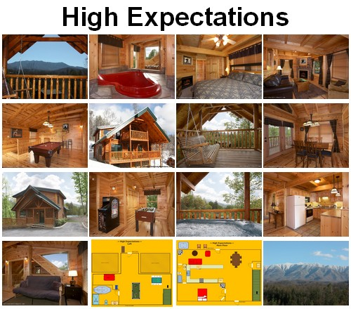 High Expectations cabin. CLICK HERE to book and for images, amenities and availability