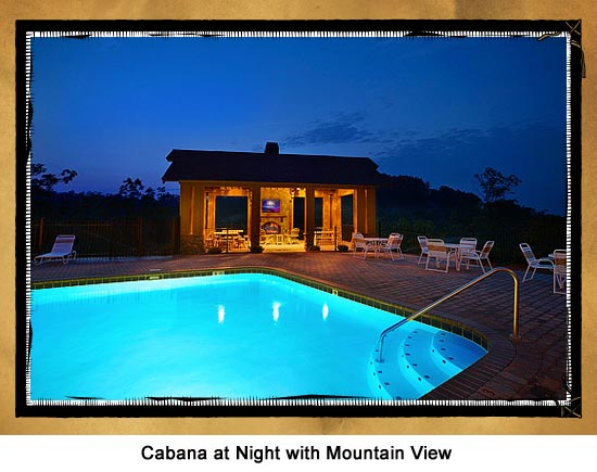 Cabins With Resort Amenities Including Swimming Pools