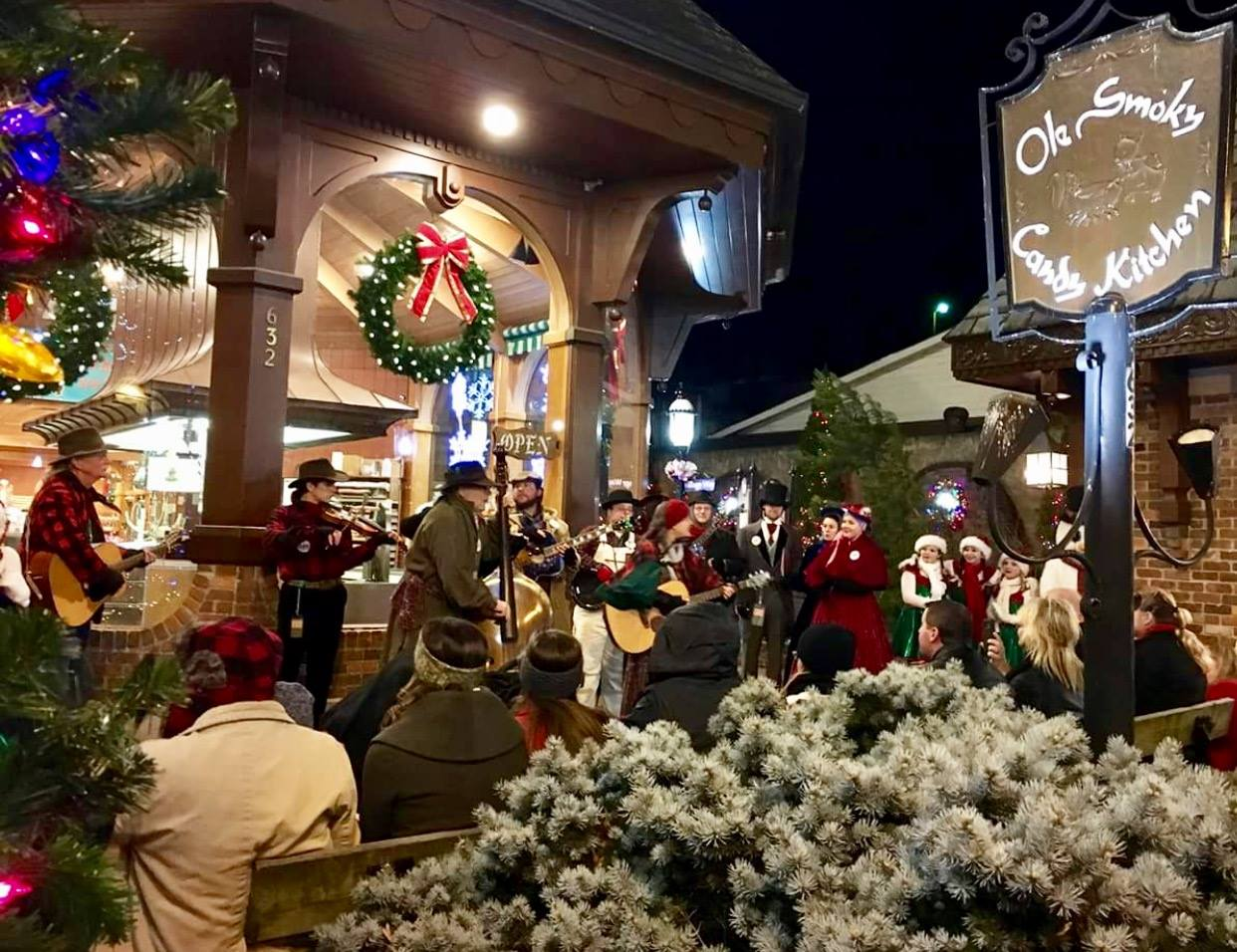 the music and fun is free to all unsuspecting strollers who may happen upon these great street performances one of the best loved parkway events - When Does Gatlinburg Decorate For Christmas