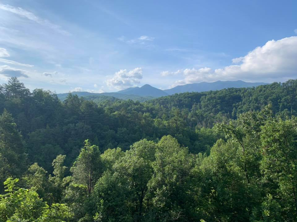 View from Cypress Lodge cabin of the Smoky Mountains