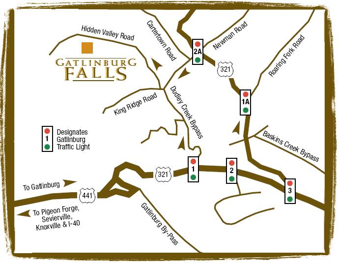 Directions To Gatlinburg Falls Hidden Valley Office