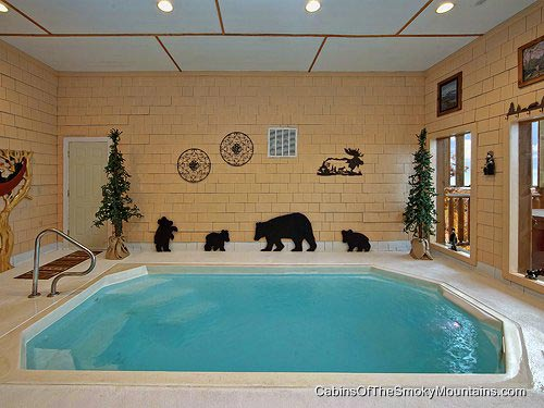 Private indoor pool  Gatlinburg Cabins with Indoor / Private Pools