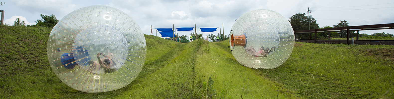Outdoor Gravity Park In Pigeon Forge Zorbing In The Smoky Mountains